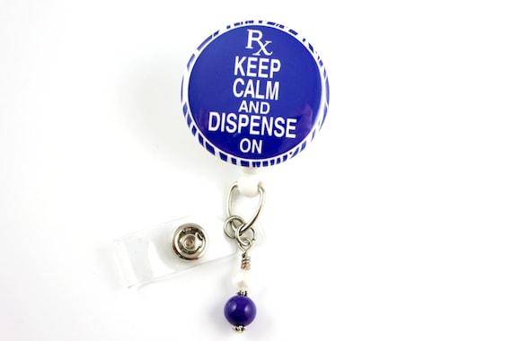 Gardez votre calme et remplir sur - rétractable ID Badge Badge porte-nom porte-infirmières insigne Clip-bobine-pharmacien-RN-soins infirmiers Badge porte-Badge