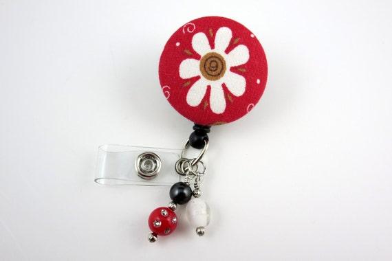 Daisy - ID rétractable Badge Badge porte-nom titulaire-infirmières insigne Clip-Badge insigne de bobines-pédiatrie-RN-infirmier titulaire