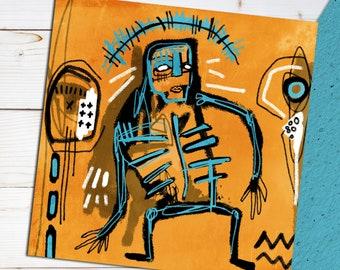 Abo. Street Art / Graffiti style artwork. Signed print