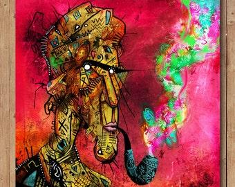 Pipe Dreams. Street Art / Graffiti style artwork. Signed print