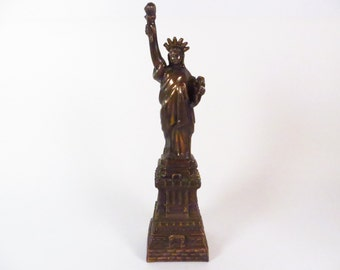 Vintage Patriotic Copper Statue of Liberty  - Patriotic Decor
