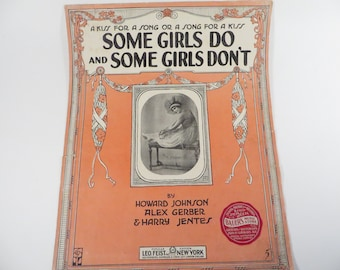 Vintage Sheet Music Some Girls Do and Some Girls Don't - Vintage Sheet Music