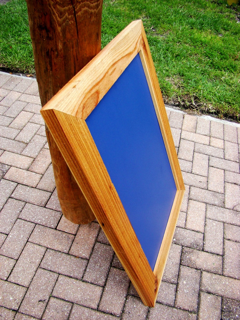 20x30 or 22x34 Rustic cedar wood poster frames - perfect canvas frame or  canvas picture frame - wide picture frame / thick picture frame