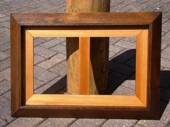 Rustic Cedar Wood Double Sided Picture Frame Handmade Etsy