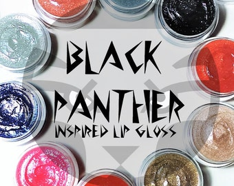 Black Panther inspired lip gloss