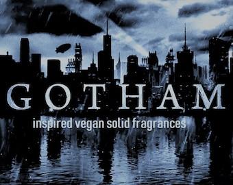 Gotham inspired vegan solid fragrances