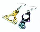 Mania ~ OOAK avant garde dangle earrings