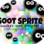Soot Sprite (Studio Ghibli inspired) soap on rope