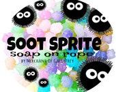 Soot Sprite (Studio Ghibli inspired) soap on rope