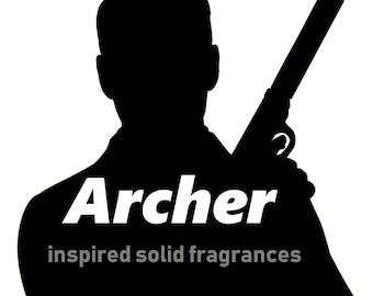 Archer inspired vegan solid fragrances
