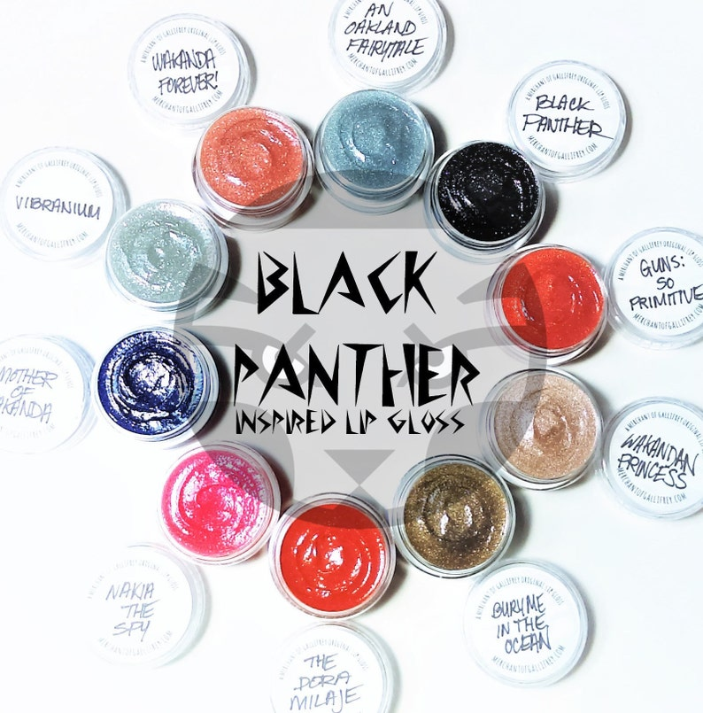 Black Panther inspired lip gloss image 0