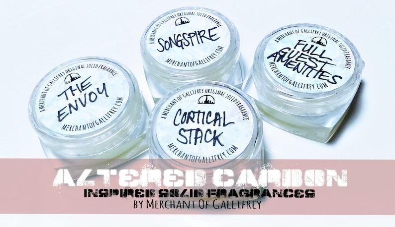 Altered Carbon inspired VEGAN solid fragrances image 0