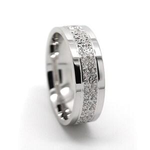 6 mm 925 Silver Wedding Ring with Filigree design for Men /& Women