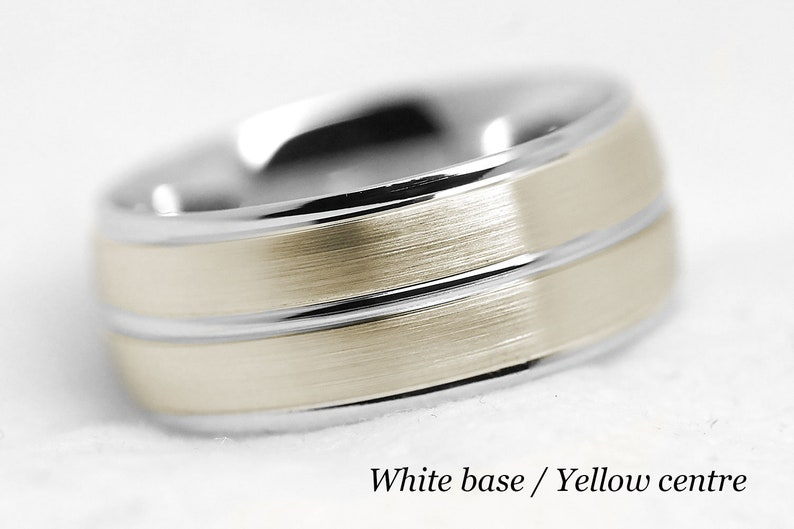 Jewelry & Watches Titanium 925 Sterling Silver Inlay 8mm Brushed Wedding Ring Band Size 11.50 Easy And Simple To Handle Bridal & Wedding Party Jewelry