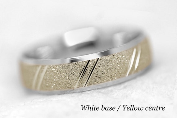 10kt White Gold Security Jewelers 10k White Gold 5mm Flat Edge Band Ring Size 9