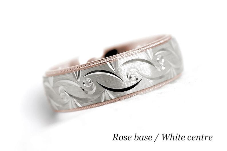 7mm 10k 14k 18k Gold Filigree Wedding Ring for Men /& Women
