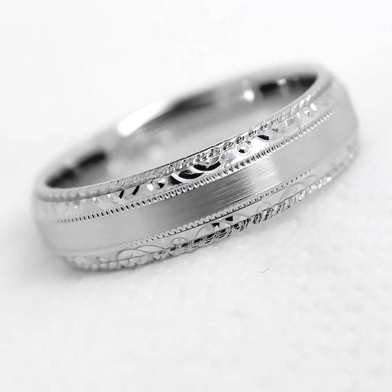 5 Mm Ring 925 Silberring Filigraner Ring Silberhochzeit Ring Graviert Ringe Frauen Band Eheringe Herrenring Passende Ringe