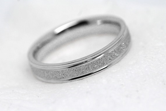 10mm 10 Sterling Silver Wedding Band for Men or Women, Thin Wedding Ring,  Stone finish, Narrow White Yellow Rose Gold or 10 Silver, 10