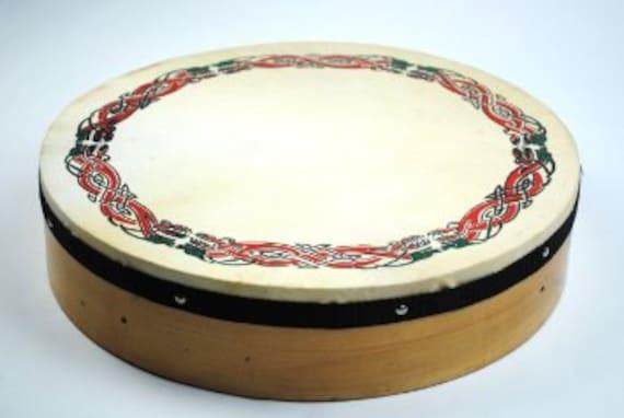 "MINI 8/"" CELTIC LINKS BODHRAN Ornamental traditional Irish Drum With beater"