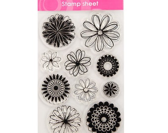 Flowers Clear Stamp Set