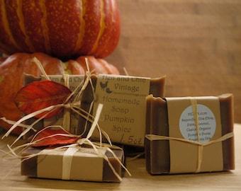 SALE!!!! Pumpkin Spice Soap-Handmade Soap No Artificial Colors, Dyes. Organic, Cold Process Soap. Organic Ingredients.