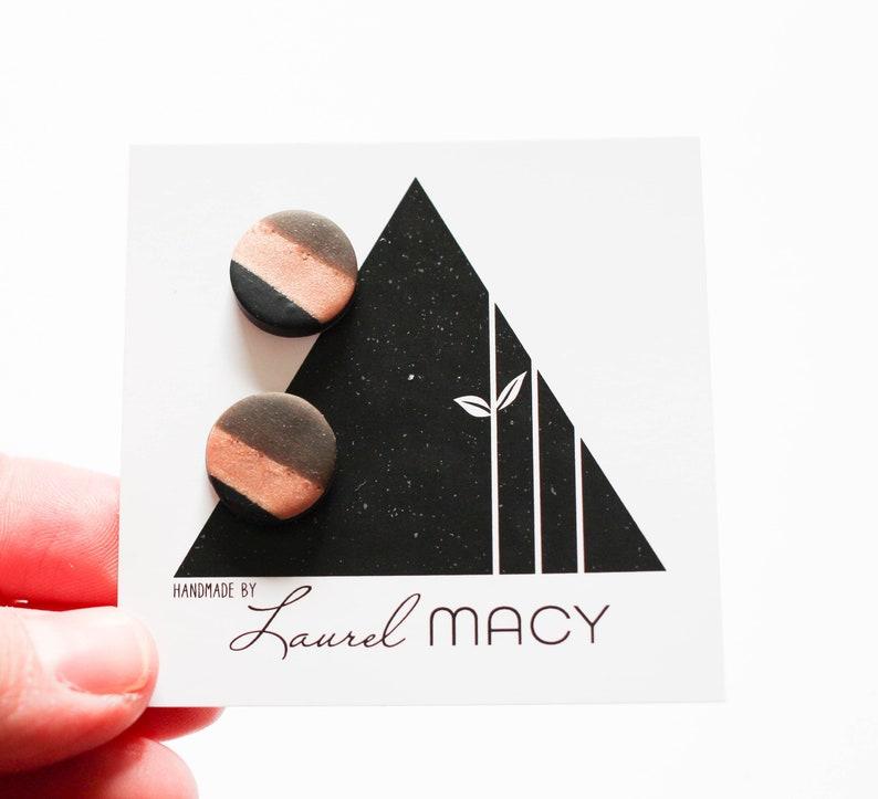 One of a Kind Laurel Macy Classic Studs Earrings 0483 image 0