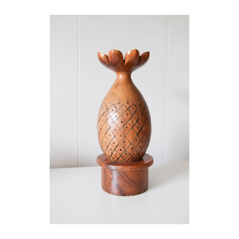 Vintage wood Pineapple toothpick appetizer/hor d'oeuvres image 0