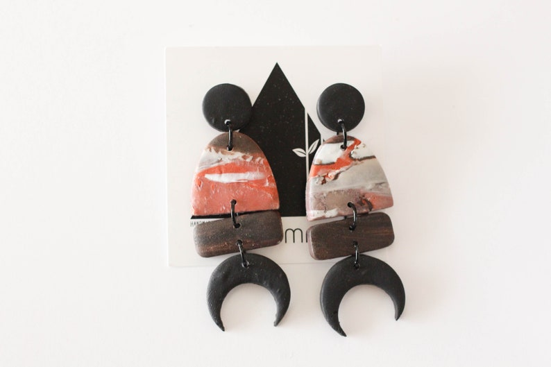 Black and Rust Shades of the moon with Black Accents  image 0