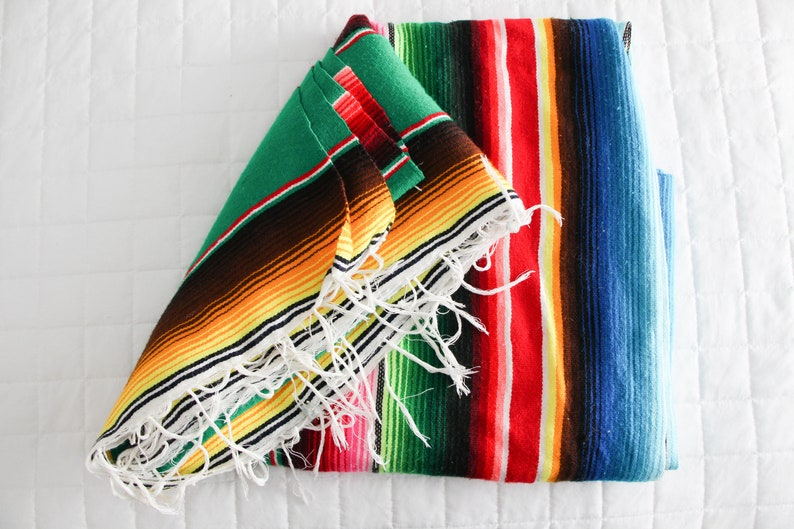 Bright Colorful Mexican Serape Southwestern Vintage Vibrant image 0