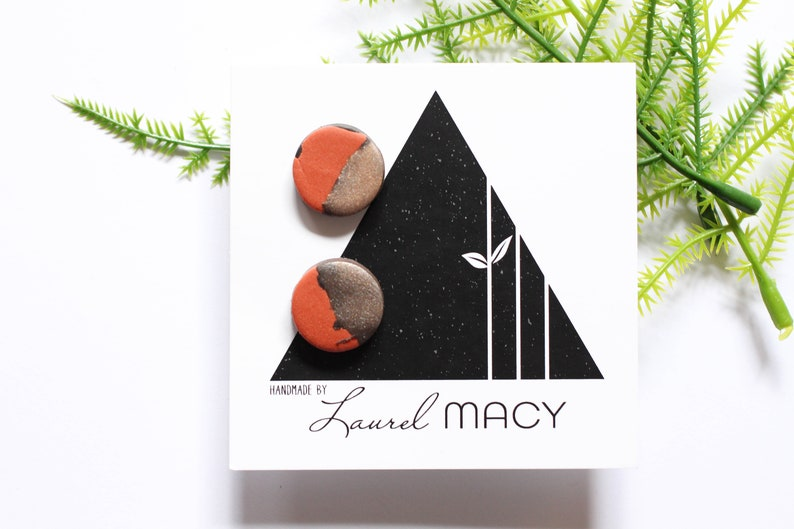 One of a Kind Laurel Macy Classic Studs Earrings 0473 image 0