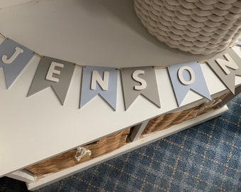 Custom Name Garland A Star is Born Baby Shower Personalized Star Name Bunting Little Star All American Style Superhero Bunting