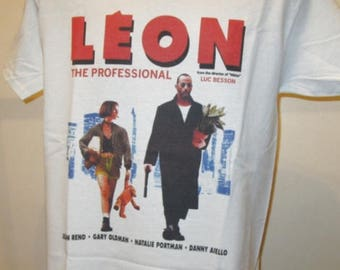 Leon The Professional Printed T Shirt - Cult 90s Hitman Movie Poster - New W201 Mens Womens Tee