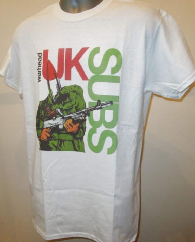 Uk Subs Warhead Printed T Shirt British Street Punk Rock Etsy