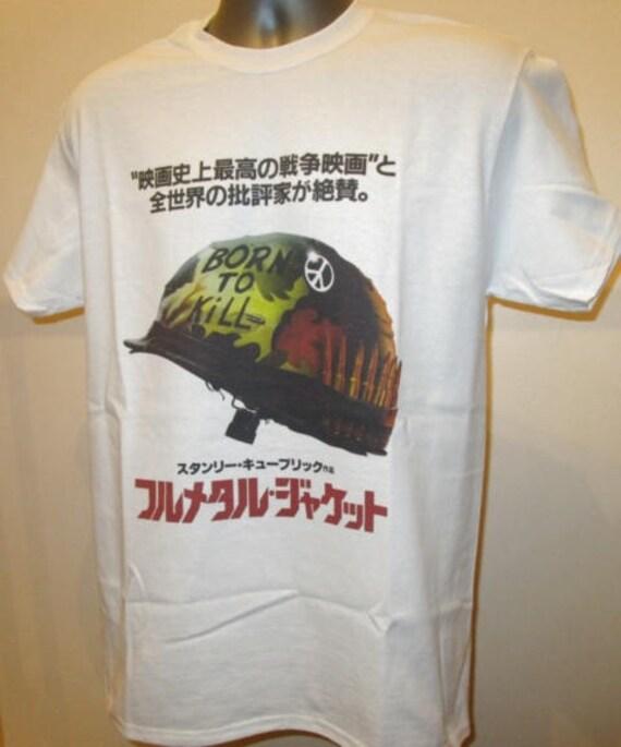 b53f4ce58c4 Full Metal Jacket Printed Japan Poster T Shirt 80s Vietnam