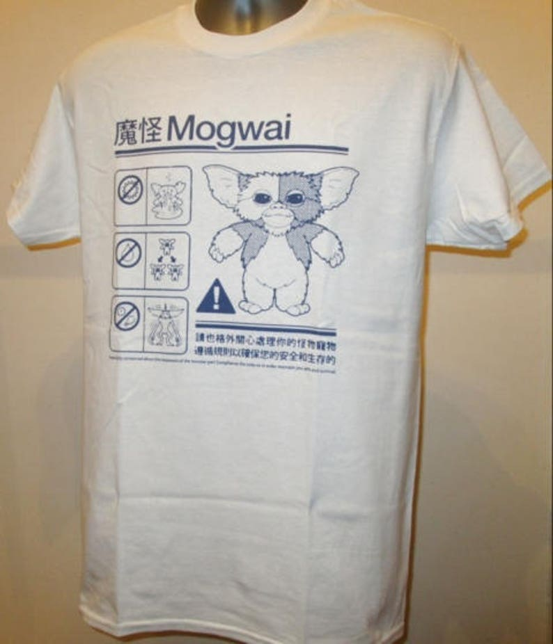 da8647b3f39 Gremlins Mogwai Safety Instructions Printed T Shirt Retro