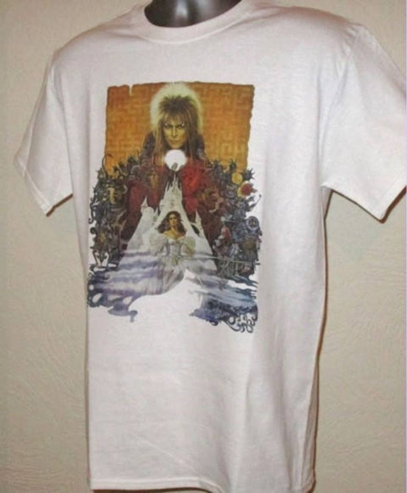 dcfbf4bb95b Labyrinth Printed T Shirt Retro 80s Adventure Fantasy Film