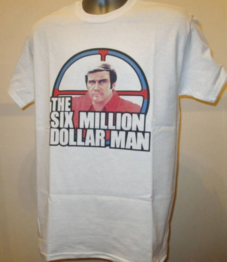 76f3a848 The Six Million Dollar Man Printed T Shirt Retro 70s TV Show | Etsy