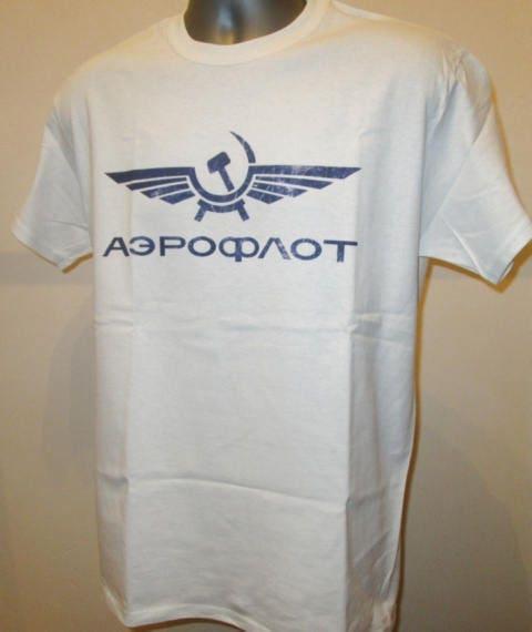 Aeroflot T Shirt - Logo rétro T-shirt Soviet Airlines - nouvelle W366 Mens Womens T-shirt rétro imprimé 242196