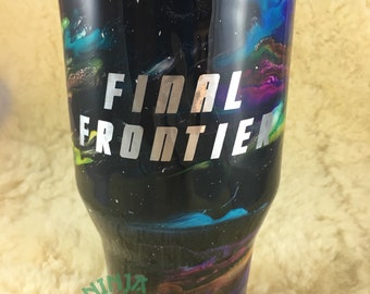Final Frontier Galaxy Space Stainless Steel Tumbler Gift