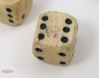 Antique Chinese Carved Bone 1000 Faces Cup With Miniature Dice Etsy