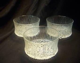 Vintage Mid Century 1960\u0027s Scandinavian Modern Glassware Tapio Wirkkala iittala ULTIMA THULE Finnish Glass Dinnerware Bowl & Finnish dinnerware | Etsy