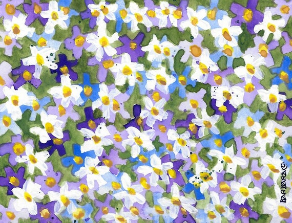 Buttercups handmade note cards Prints from Watercolor No 83 Buttercups