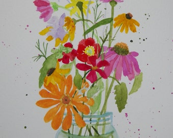 Flower Note Cards, Cut Flowers - No. 945   From Our Gardens