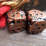 Hand cast copper color skull dice, oogie boogie dice, geek gaming dice