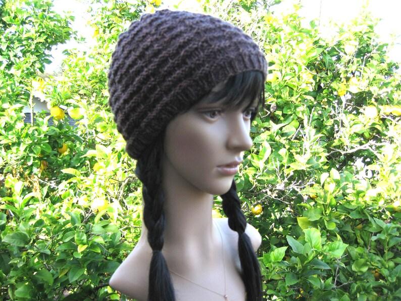 f0677d9e703 Knit brown skull cap mens knit textured beanie boyfriend