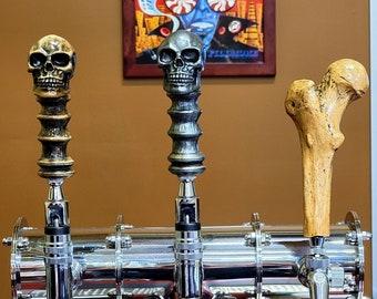 Bar tap pull, Femur bone tap, Goth bar accessory