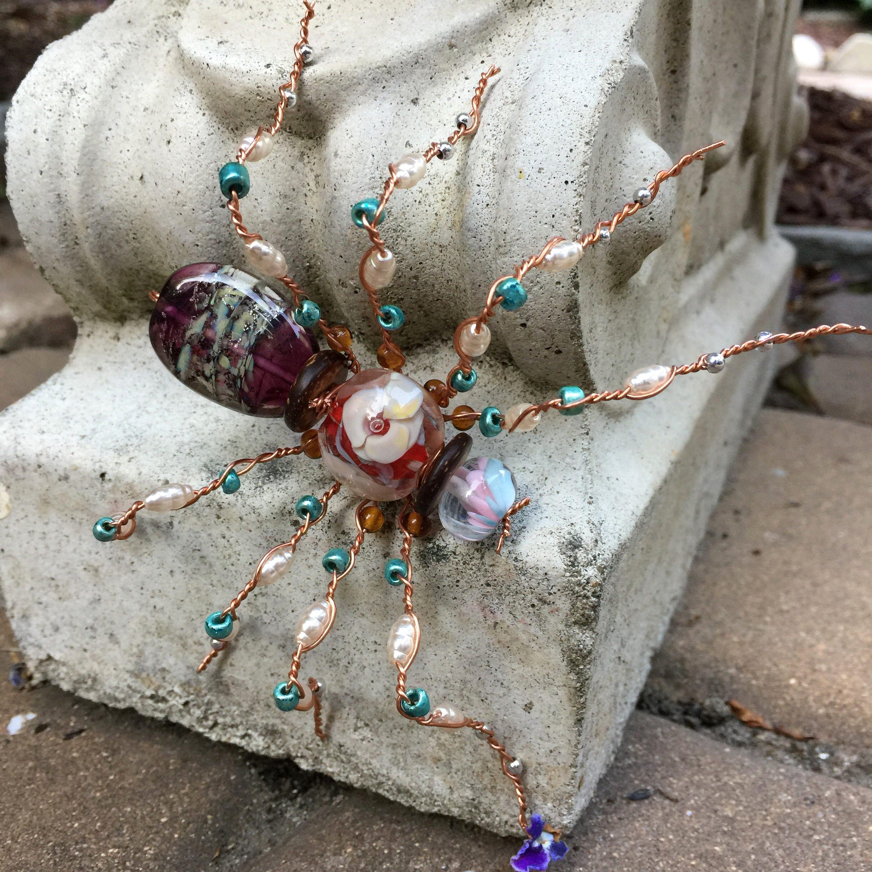 Perlen Perlen Körper Tarantel Draht-Spinne