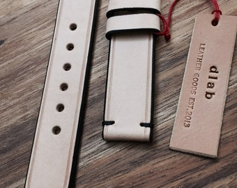 18/20/22/24 mm Handmade Vegetable Tan Leather Watch Band / Strap