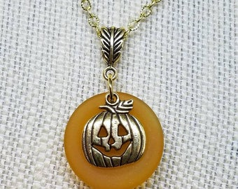 Gold Pumpkin Necklace