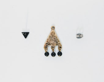 Equilateral ear Jacket / / gold